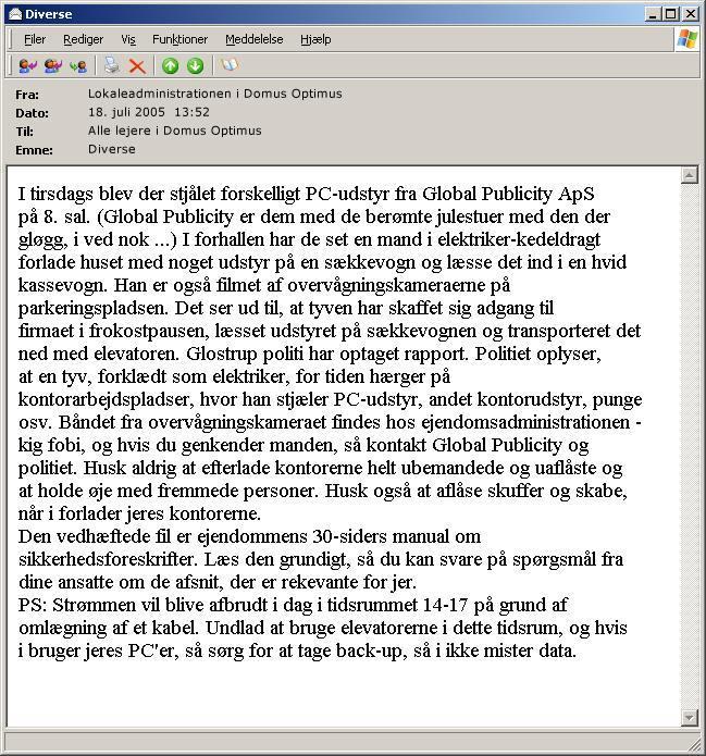 E-mail-eksempel